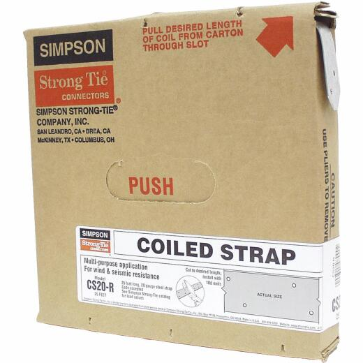 Simpson Strong-Tie 1-1/4 in. x 25 ft. Galvanized Steel 20 Gauge Coiled Strapping