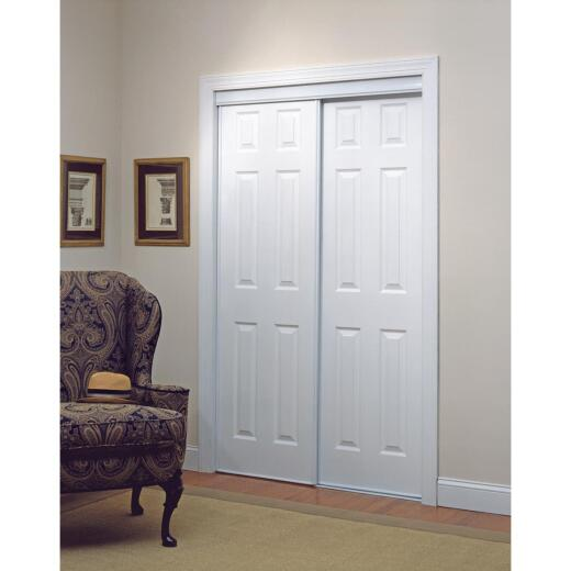 Erias 106 Series 47 In. W. x 80-1/2 In. H. White Vinyl Clad 6-Panel Bypass Door