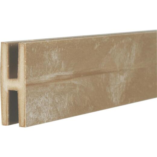 Dimensions 2-1/8 In W x 95-1/2 In L x 3/4 D Brownstone Vinyl Panel H-Divider