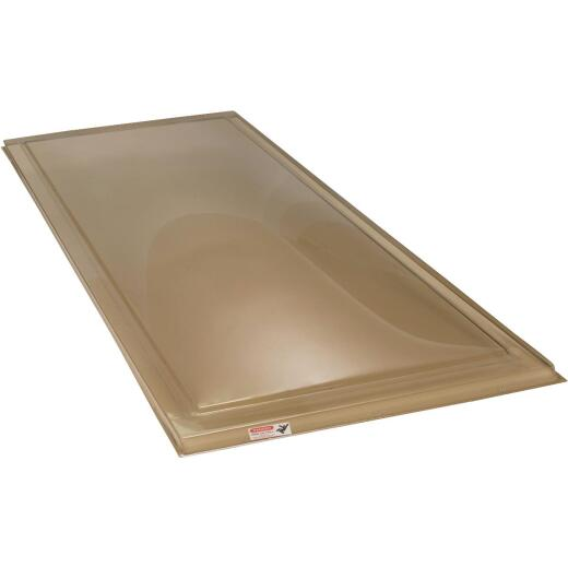 Kennedy Skylights 24 In. x 48 In. Bronze Dome Curb Mount Skylight