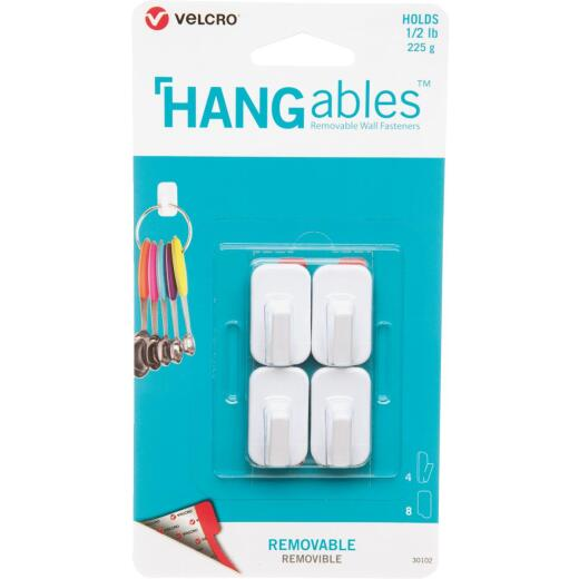 Velcro Brand Hangables 1/2 Lb. Capacity White Removable Micro Hook (4 Count)