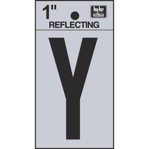 Hy-Ko Vinyl 1 In. Reflective Adhesive Letter, Y