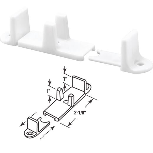Prime-Line 1 In. Adjustable Nylon Base Bypass Door Bottom Guide (2 Count)
