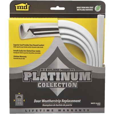 "M-D 84"" White Door Jambs Weatherstrip Replacement"