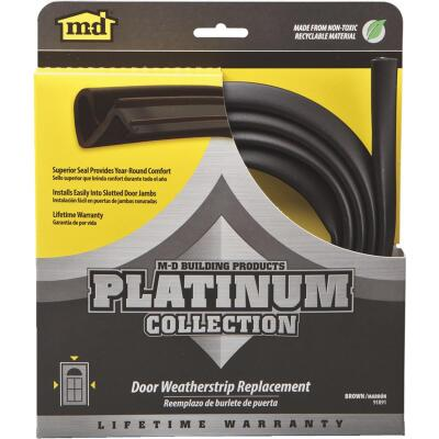 "M-D 84"" Brown Door Jambs Weatherstrip Replacement"