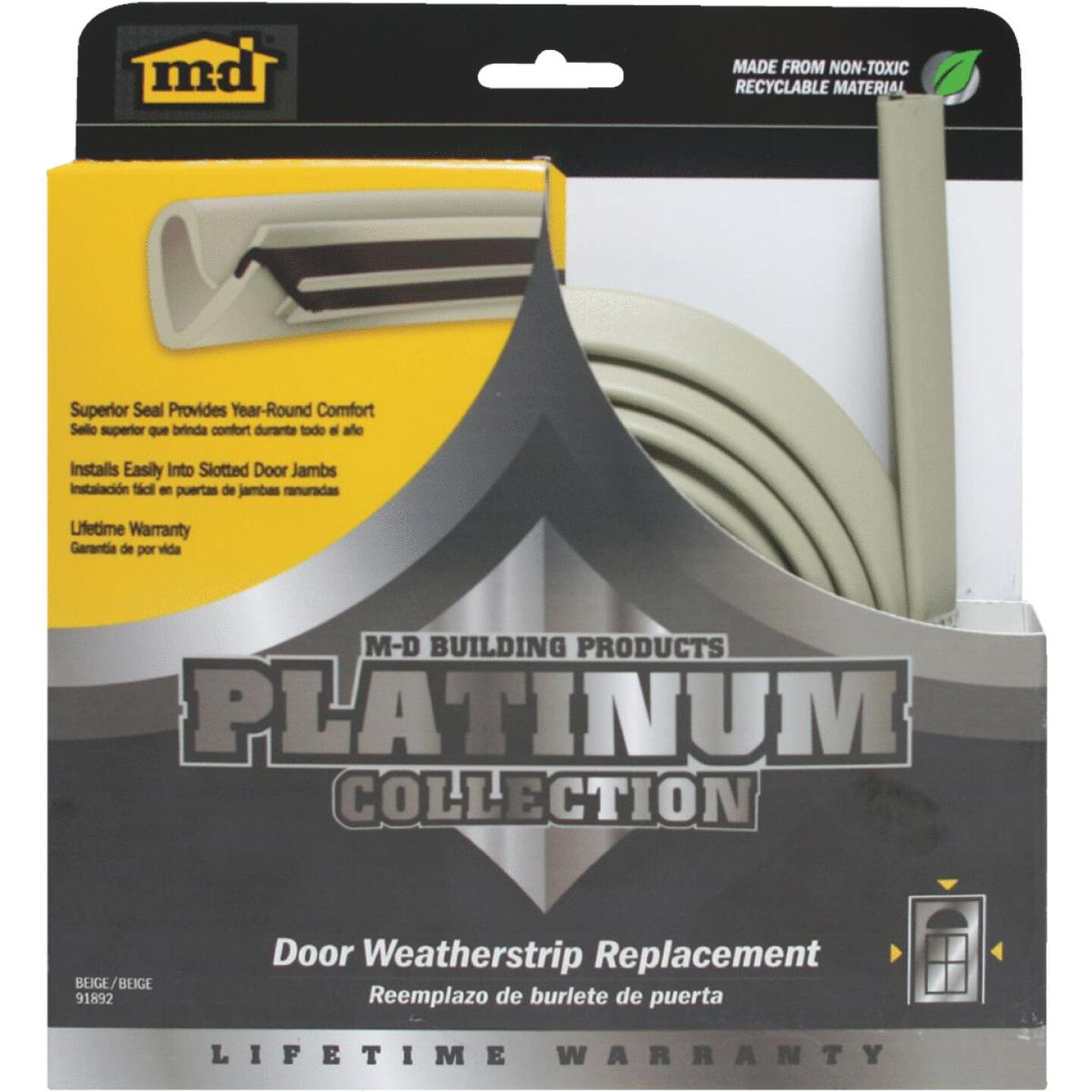 "M-D 84"" Beige Door Jambs Weatherstrip Replacement Image 1"