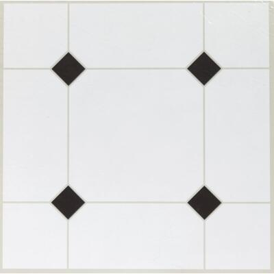 Home Impressions Black Diamond 12 In. x 12 In. Vinyl Floor Tile (45 Sq. Ft./Box)