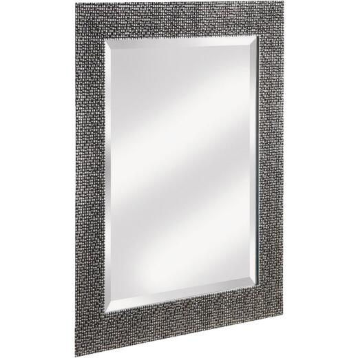 Erias Home Designs 25.5 In. W. x 35.5 In. H. Chromed Espresso Framed Wall Mirror