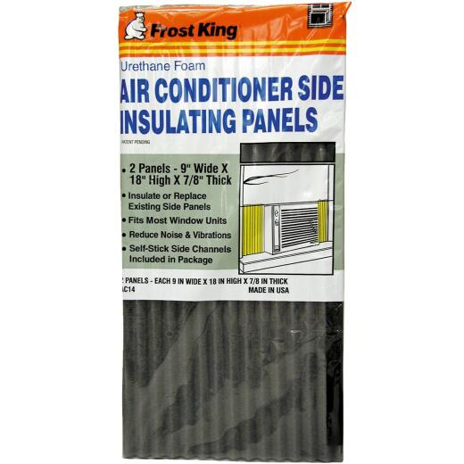 Frost King 9 In. W. x 18 In. H. Charcoal Side Air Conditioner Insulating Panel (2-Pack)