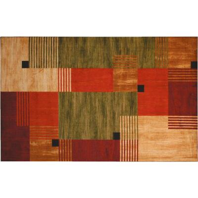 Mohawk Home Alliance Multi-Color 2 Ft. 6 In. x 3 Ft. 10 In. Accent Rug