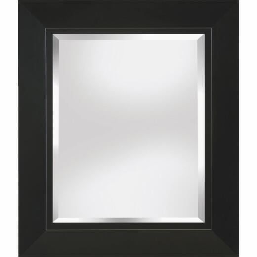 Erias Home Designs 23.5 In. W x 27.5 In. H Black Framed Wall Mirror