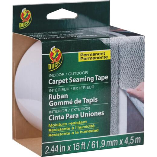 Duck 2.44 In. x 15 Ft. White Indoor/Outdoor Seaming Carpet Tape