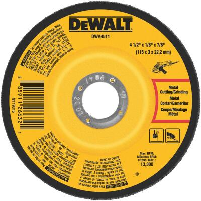 DeWalt HP Type 27, 4-1/2 In. Cut-Off Wheel