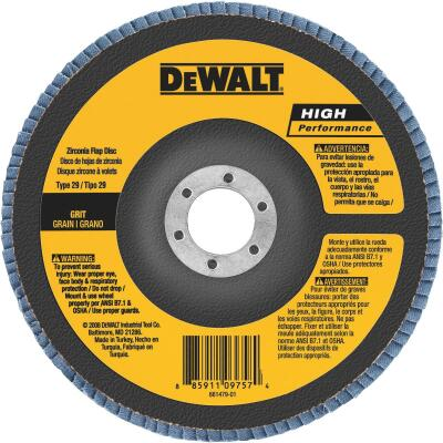 DeWalt High Performance 6 In. x 5/8 In.-11 60-Grit Type 29 Angle Grinder Flap Disc