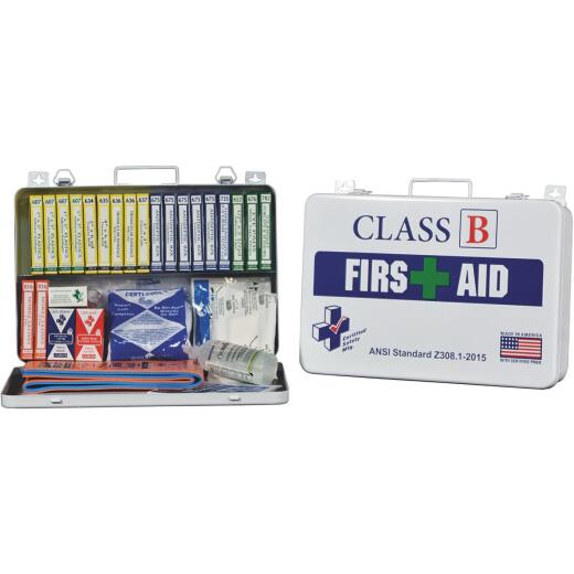 Certified Safety Class B ANSI & OSHA Certified First Aid Kit (117-Piece)