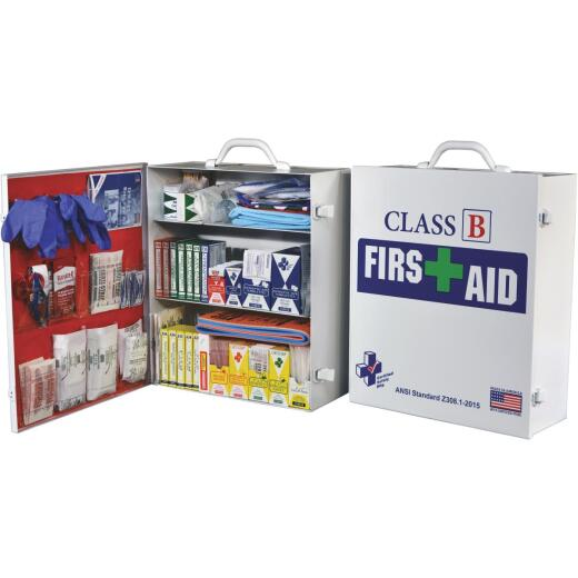 Certified Safety Class B ANSI & OSHA Certified Cabinet First Aid Kit (379-Piece)