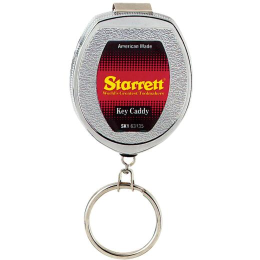 Starrett Belt Clip 21 In. Chrome Retractable Key Caddy Chain