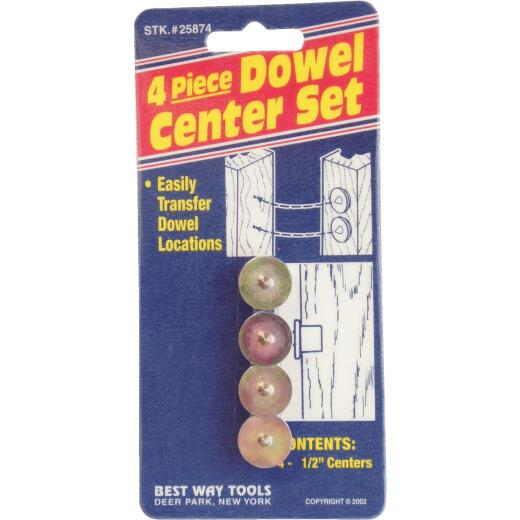 Best Way Tools 1/2 In. Dowel Center (4-Pack)