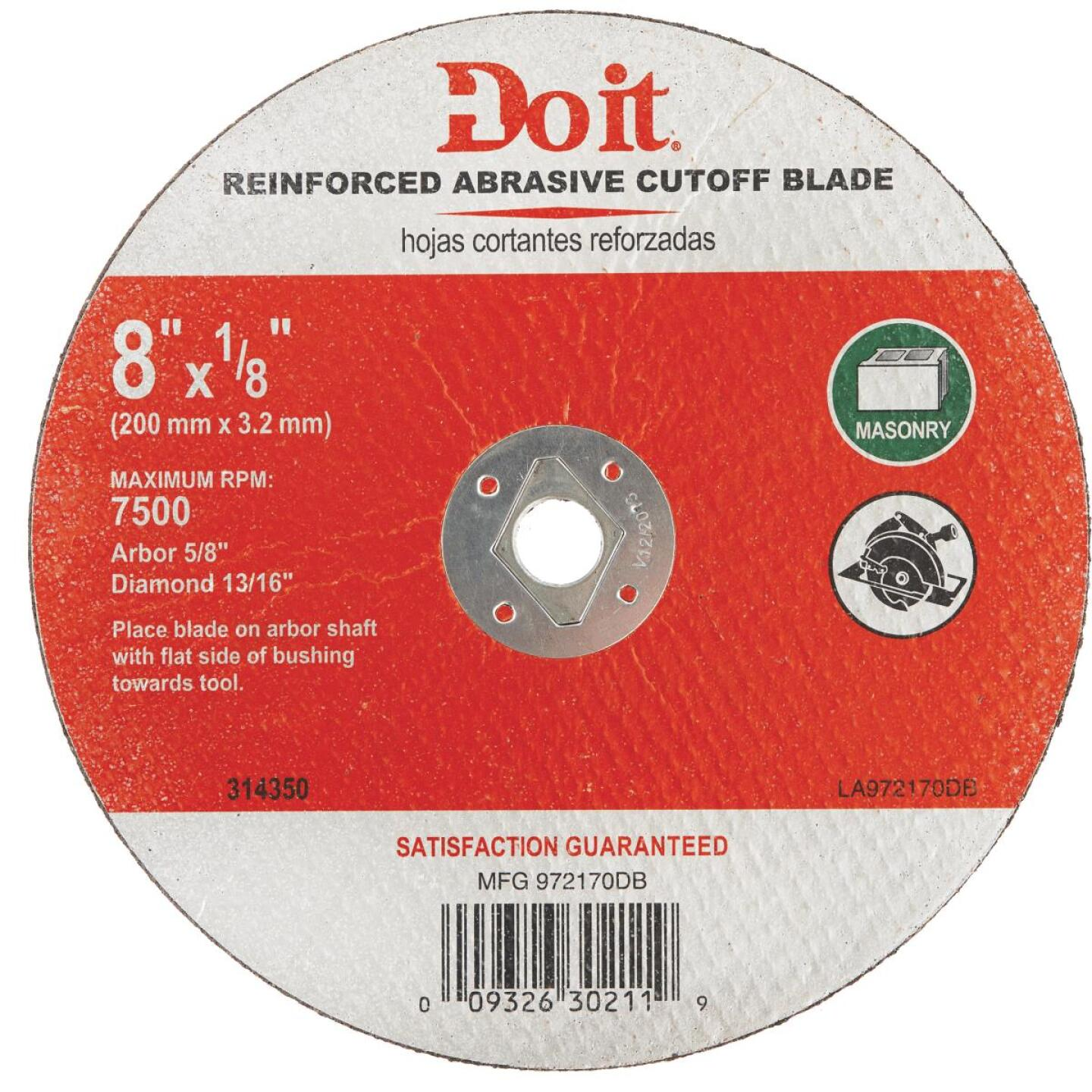 Do it Type 1 8 In. x 1/8 In. x 5/8 In. Masonry Cut-Off Wheel Image 1