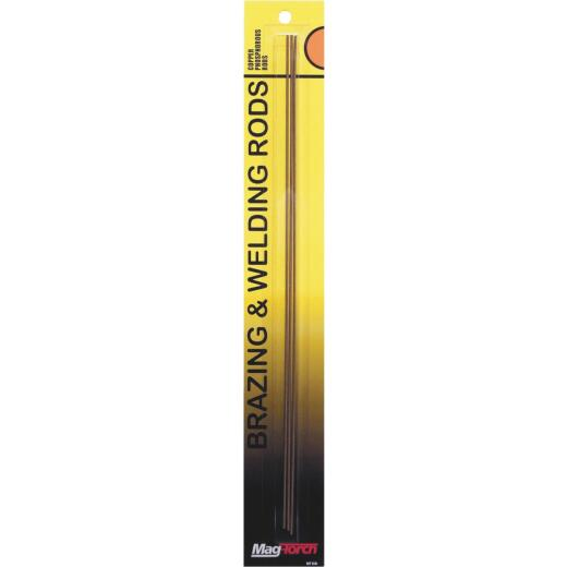 Mag-Torch 12 In. Copper/Phosphorous Brazing Rod (3-Pack)