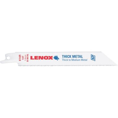 Lenox 6 In. 14 TPI Thick Metal Reciprocating Saw Blade (5-Pack)