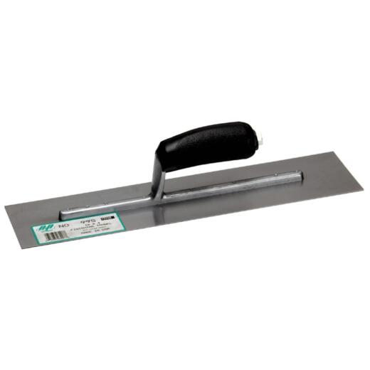 QLT 4 In. x 16 In. Finishing Trowel with Curved Plastic Handle