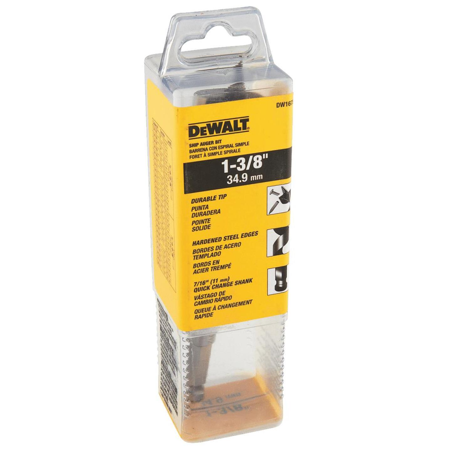DeWalt Power Ship 1-3/8 In. x 6 In. Quick Change Auger Bit Image 2