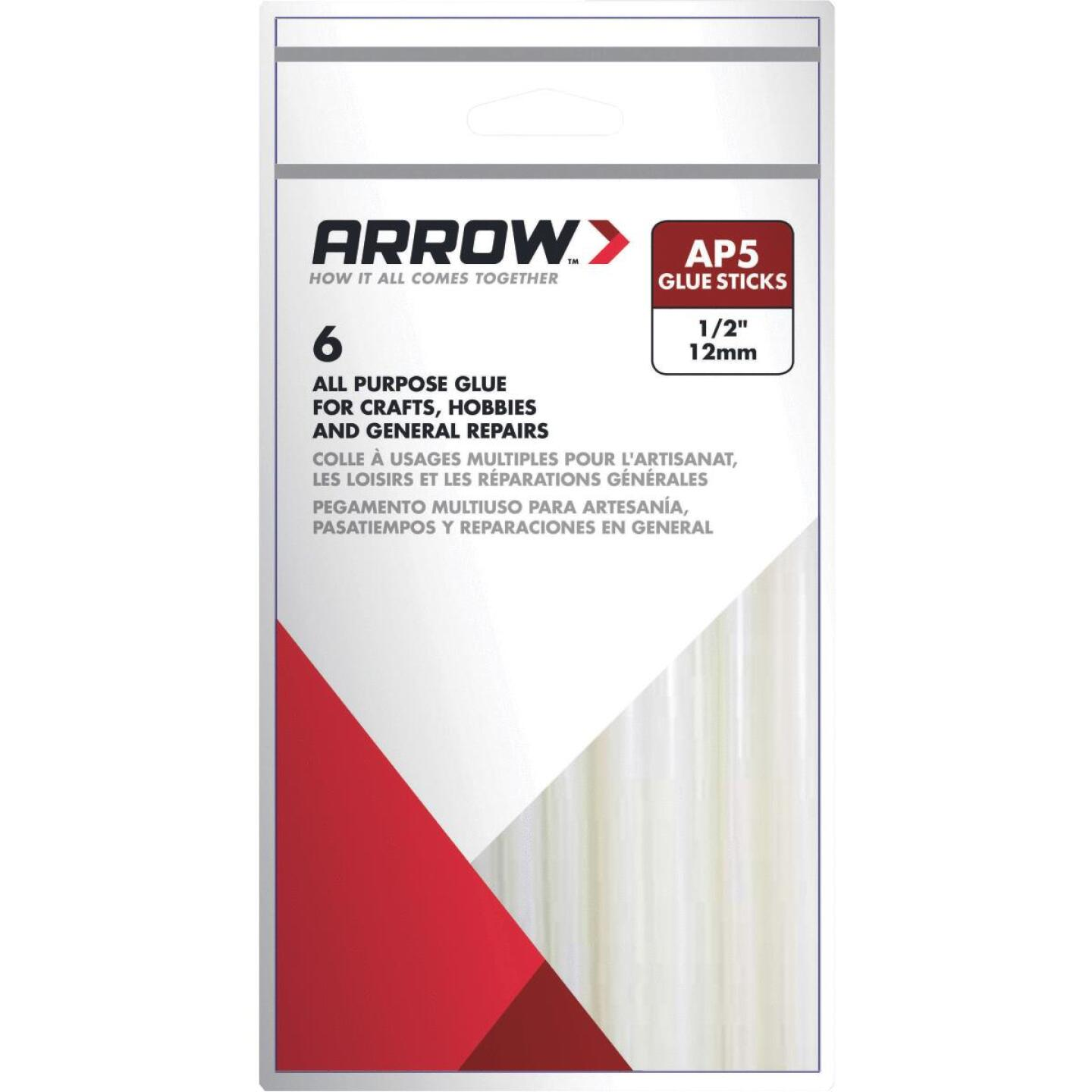 Arrow 4 In. Standard Clear Hot Melt Glue (6-Pack) Image 1