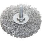 Weiler Vortec 3 In. Crimped, Coarse Drill-Mounted Wire Brush Image 1