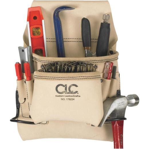 CLC 8-Pocket Leather Carpenter's Nail & Tool Bag