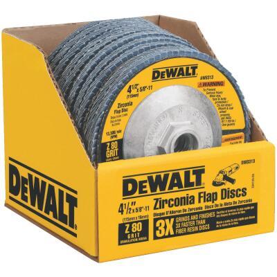 DeWalt 4-1/2 In. 80-Grit Type 29 High Performance Angle Grinder Flap Disc