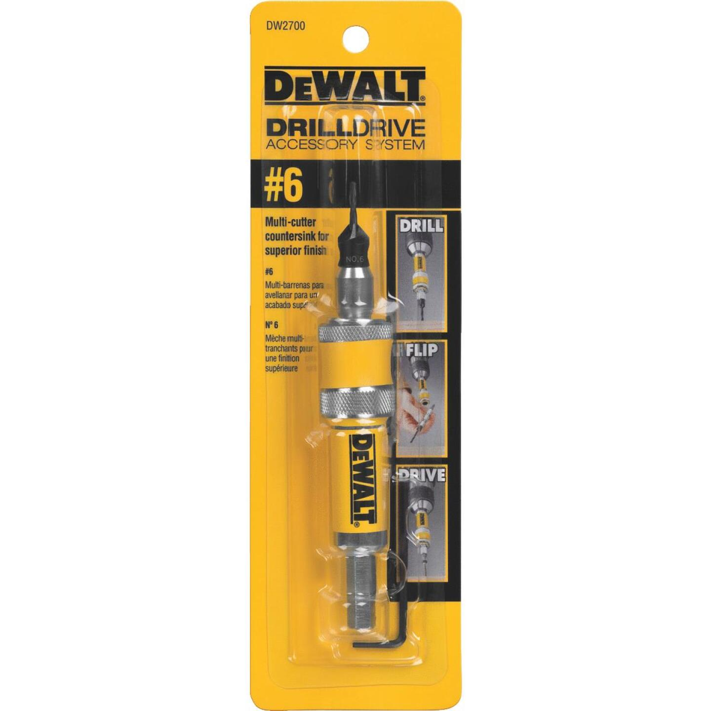 DeWalt #6 1/4 In. Black Oxide Drill & Drive Unit Image 3