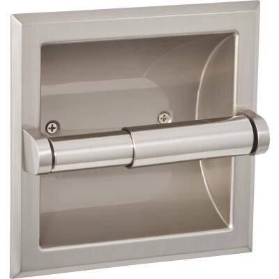 Home Impressions Aria Brushed Nickel Recessed Toilet Paper Holder