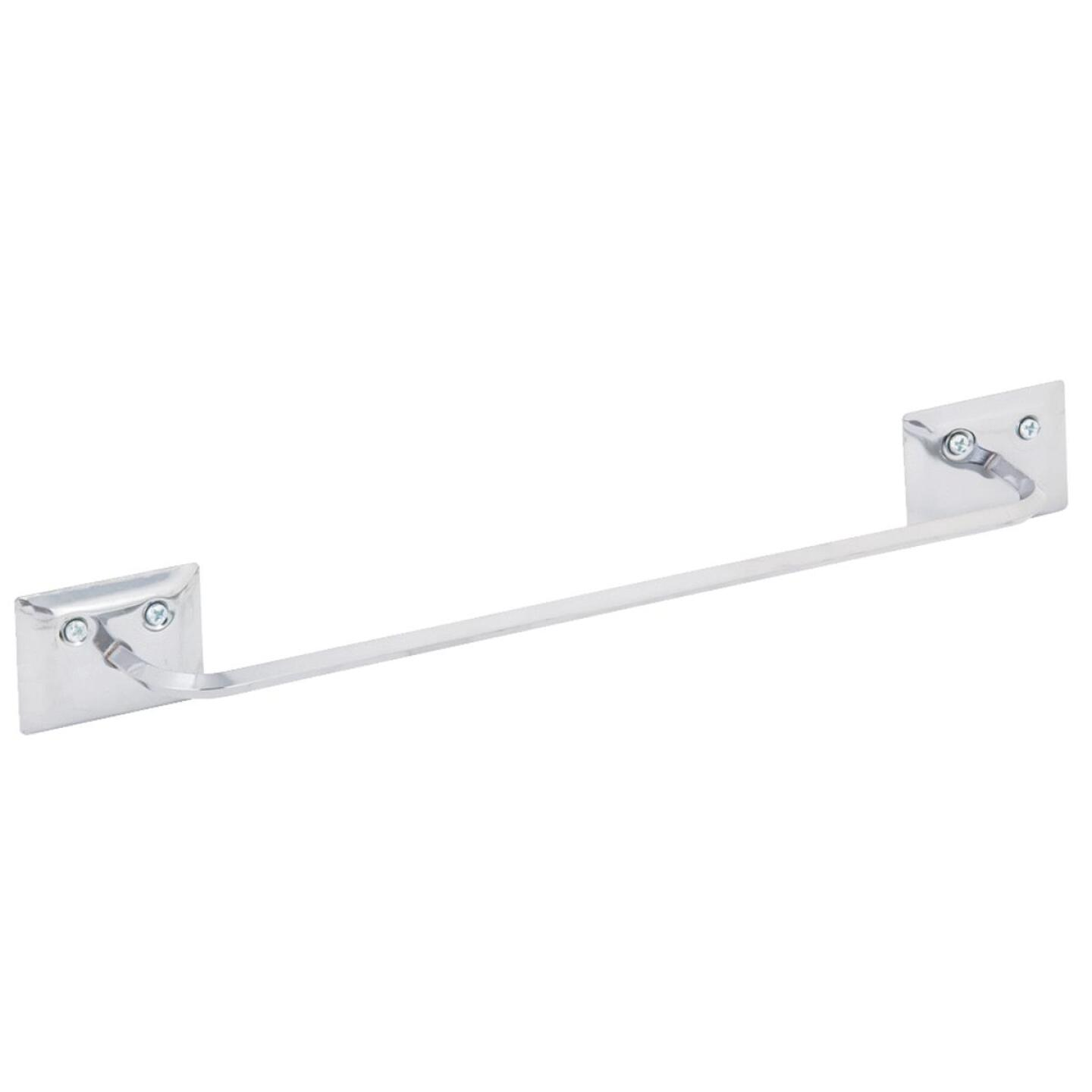 Decko Diamond Bar Design 12 In. Chrome Towel Bar Image 1
