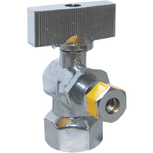 Lasco 1/2 In. IP Inlet x 1/4 In. C Outlet 1/4 Turn Angle Valve