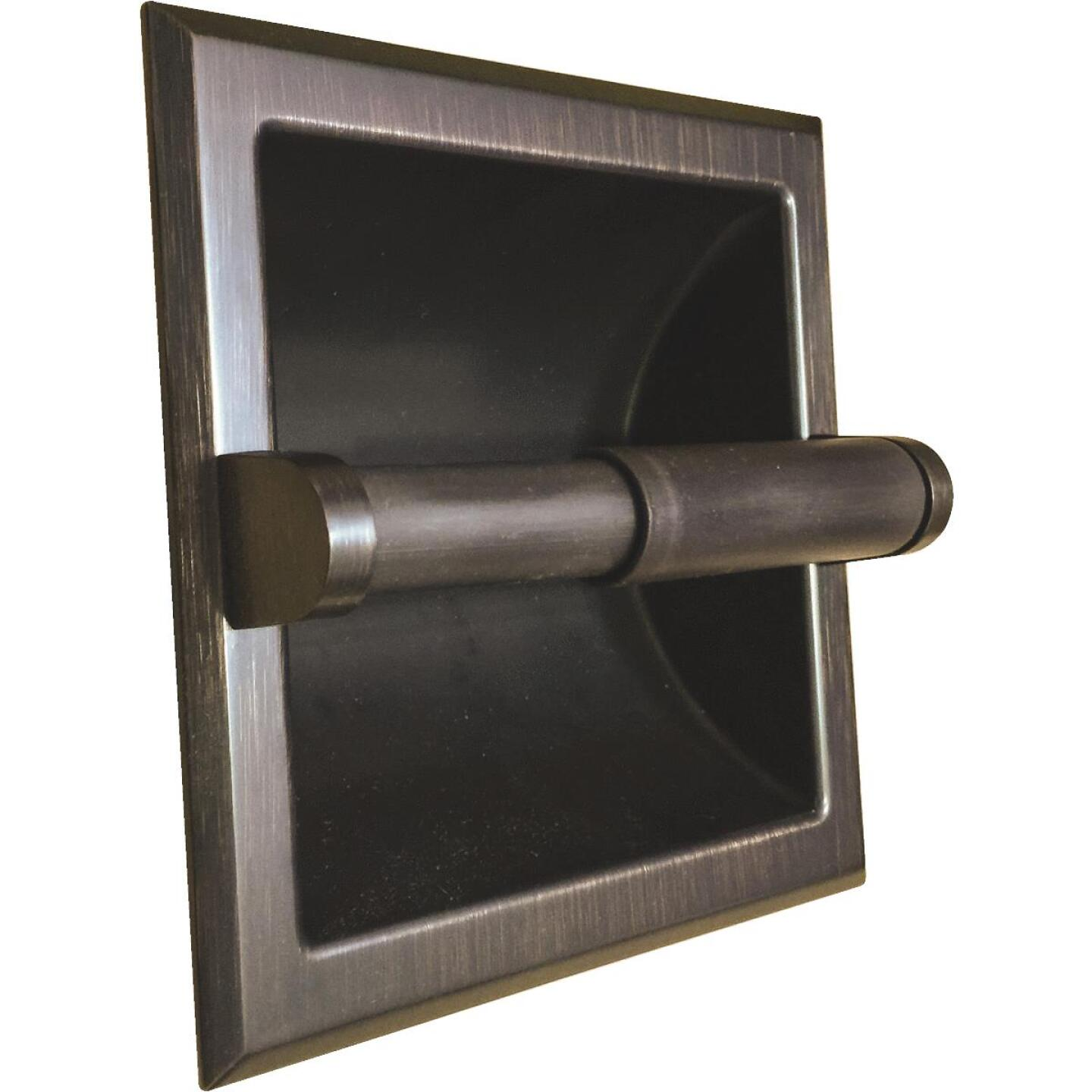 Home Impressions Aria Oil-Rubbed Bronze Recessed Toilet Paper Holder Image 1