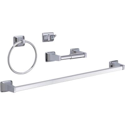 Home Impressions Chrome Vista Bath Accessory Kit