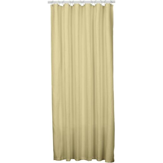Zenith Zenna Home 70 In. x 72 In. Taupe Spa Waffle Weave Shower Curtain