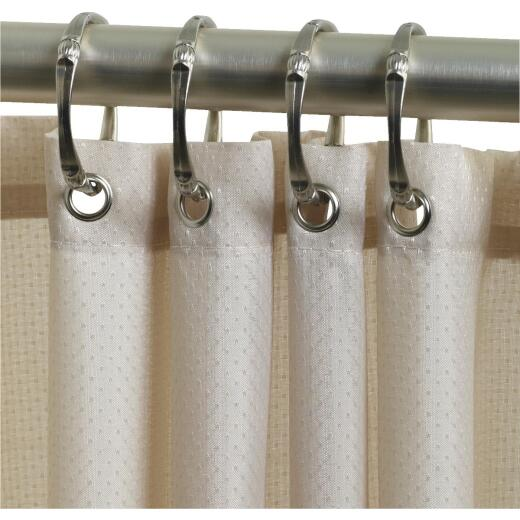 Zenith 70 In. x 72 In. Taupe Fabric Shower Curtain