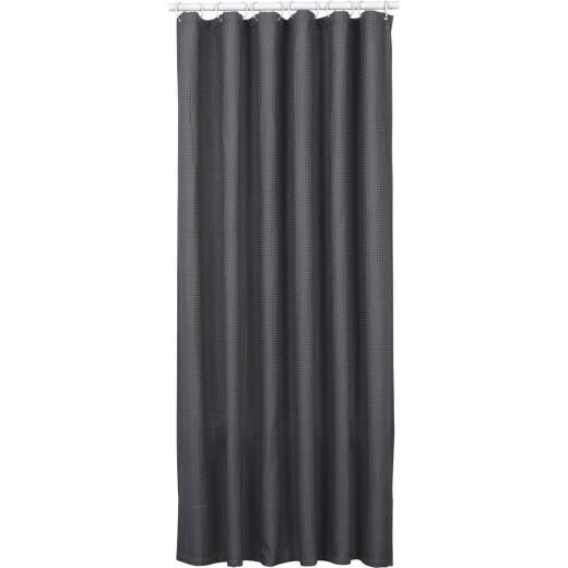 Zenith Zenna Home 70 In. x 72 In. Steel Gray Spa Waffle Weave Shower Curtain