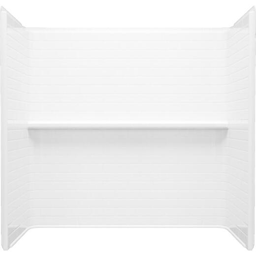 Sterling Traverse 4-Piece 60 In. x 32 In. Tub Wall Kit in White (Subway Tile Pattern)