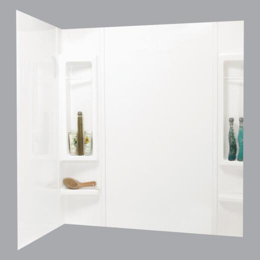 Maax Finesse 5-Piece 59 In. H x 34 In. D Tub Wall Kit in White