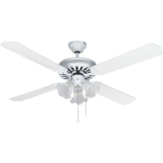 Home Impressions Chateau 52 In. White Ceiling Fan with Light Kit