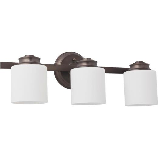 Home Impressions Crawford 3-Bulb Oil Rubbed Bronze Bath Light Bar