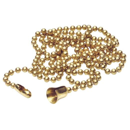Leviton 3 Ft. Brass Bell Pull Chain