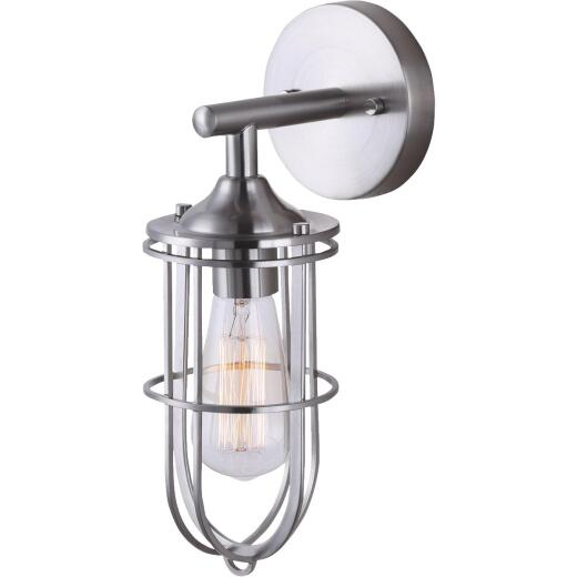 Home Impressions Indus 1-Bulb Brushed Nickel Wall Light Fixture