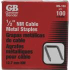 Gardner Bender 1/2 In. x 15/16 In. Carbon Steel Cable Staple (100-Count) Image 1