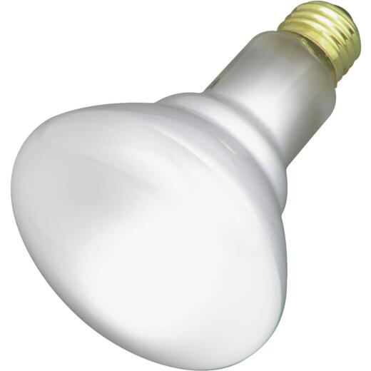 Satco 65W Frosted Medium Base BR30 Reflector Incandescent Floodlight Light Bulb