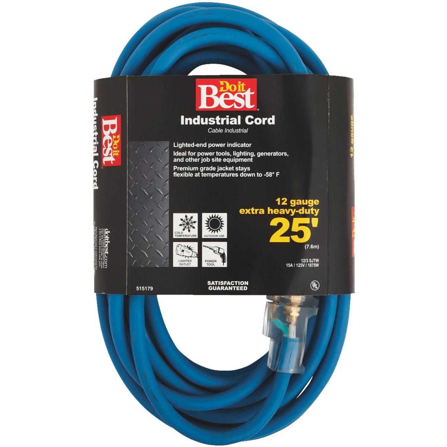 Do it Best 25 Ft. 12/3 Industrial Outdoor Extension Cord Image 1