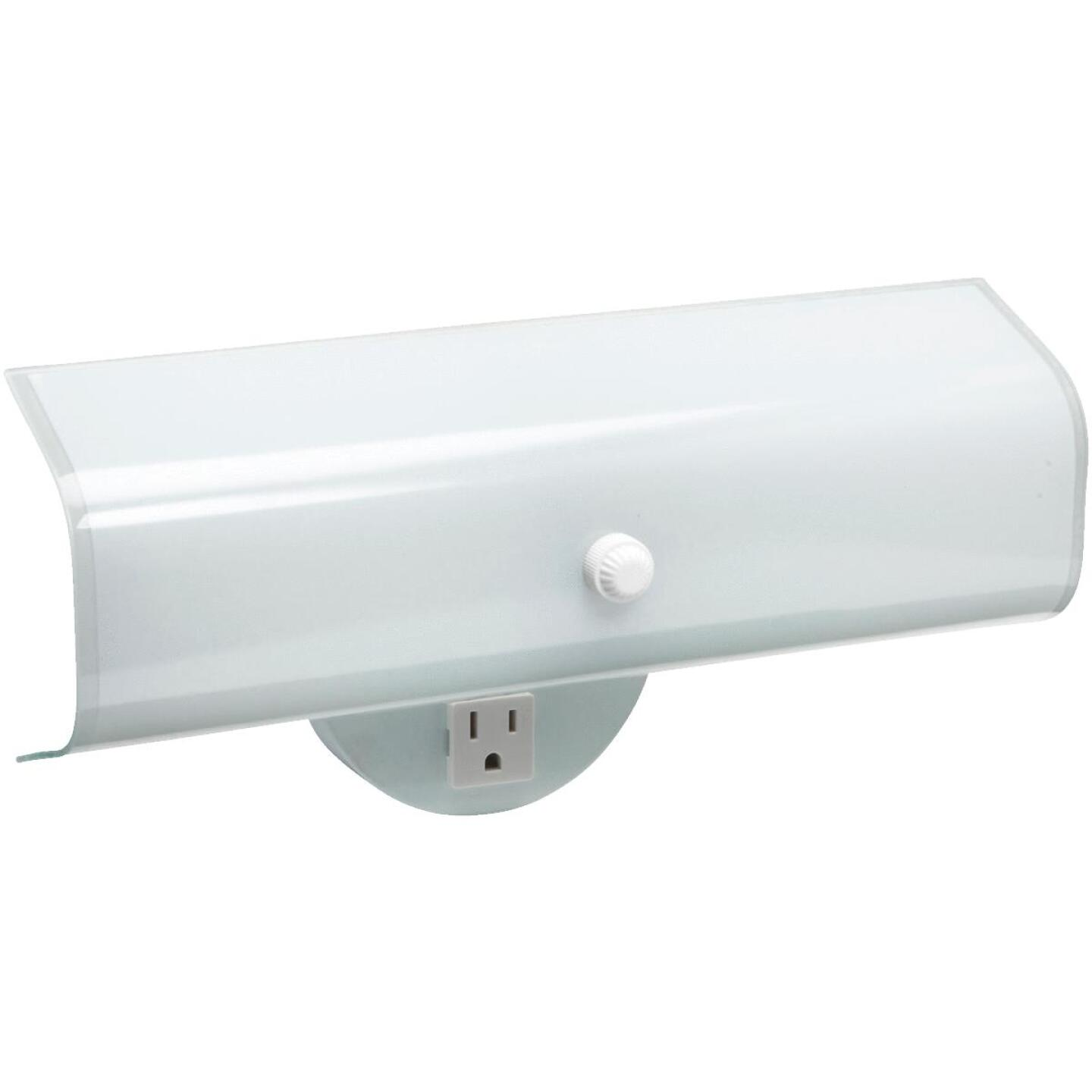 Home Impressions 2-Bulb White Wall Light Fixture Image 1